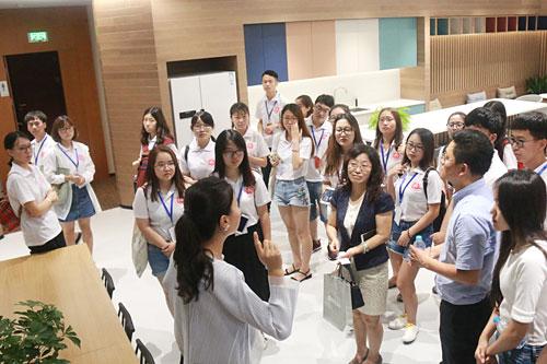 2017年全国优秀大学生到访北京电通
